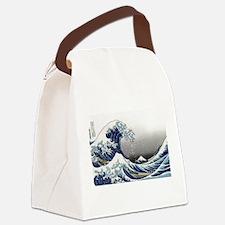 great wave of Kanagawa by hokusai Canvas Lunch Bag