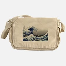 great wave of Kanagawa by hokusai Messenger Bag