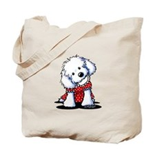 Maltese In Dots Tote Bag