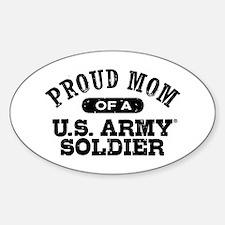 Proud U.S. Army Mom Sticker (Oval)