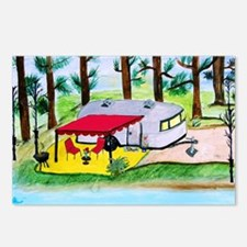 Air stream Camper on the  Postcards (Package of 8)