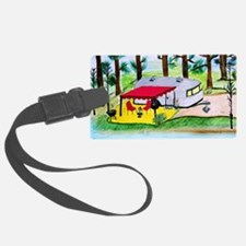 Air stream Camper on the lake Luggage Tag
