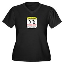 Don't tell m Women's Plus Size V-Neck Dark T-Shirt