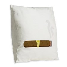 Cigar Burlap Throw Pillow