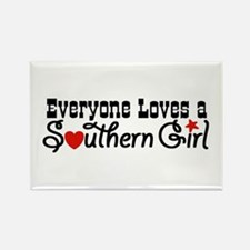 Everyone Loves a Southern Gir Rectangle Magnet