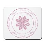 create, inspire (pink) Mousepad