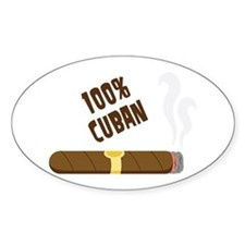 100 Percent Cuban Decal