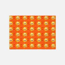 I Love God Orange 5'x7'area Rug