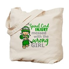 Spinal Cord Injury CombatGirl1 Tote Bag