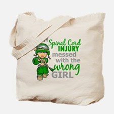 Spinal Cord Injury CombatGirl1 Tote Bag