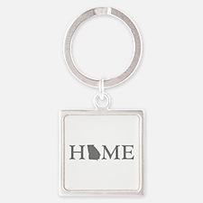 Georgia Home Square Keychain