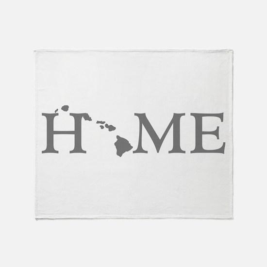 Hawaii Home Throw Blanket