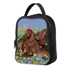 Chicken Family Neoprene Lunch Bag