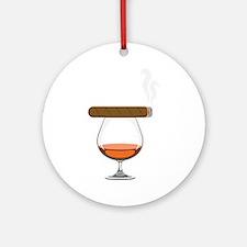 Brandy Cognac Cigar Ornament (Round)