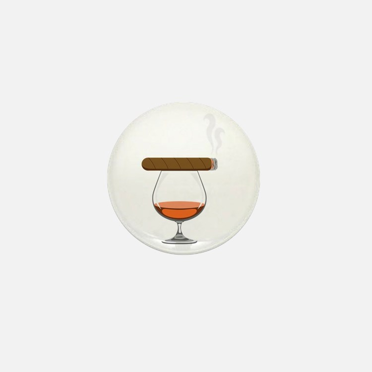 Brandy Cognac Cigar Mini Button