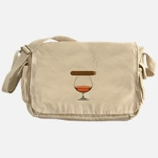 Brandy Cognac Cigar Messenger Bag