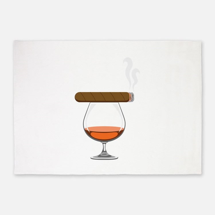 Brandy Cognac Cigar 5'x7'Area Rug