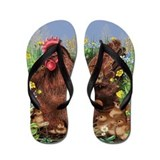 Chickens Flip Flops