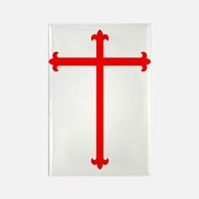 Red Crucifix Rectangle Magnet