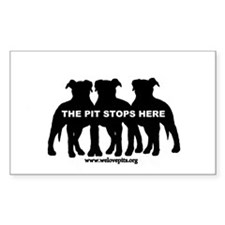 The Pit Stops Here Decal