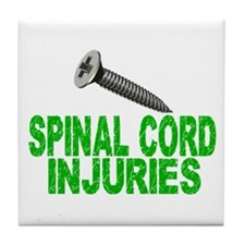 Screw Spinal Cord Injuries 1 Tile Coaster