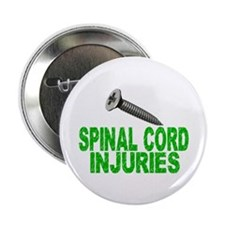 """Screw Spinal Cord Injuries 2.25"""" Button (10 pack)"""