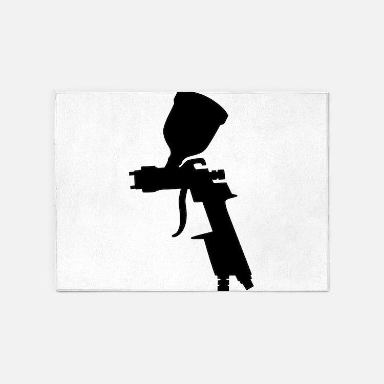 Gun Silhouette Rugs Gun Silhouette Area Rugs