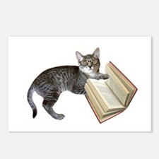 Reading Cat Postcards (Package of 8)