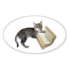 Reading Cat Decal
