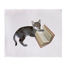 Reading Cat Throw Blanket