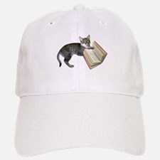 Reading Cat Baseball Baseball Cap