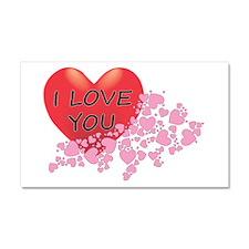 I Love You Hearts Car Magnet 20 X 12