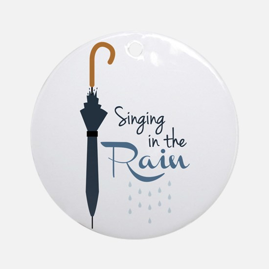 Singing in the Rain Ornament (Round)