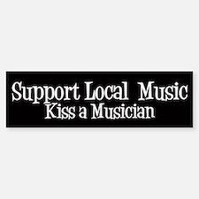 Support Local Music Bumper Car Car Sticker