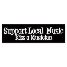 Support Local Music Bumper Car Sticker