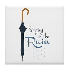 Singing in the Rain Tile Coaster