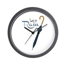 Let it Rain Wall Clock