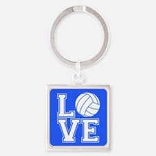 Love Volleyball, Royal Blue1 Keychains