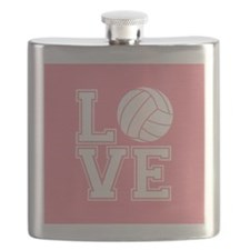 Love Volleyball, Salmon Pink1 Flask
