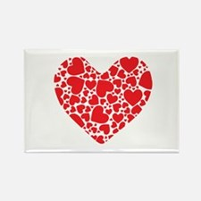 Big Red Hearts Magnets