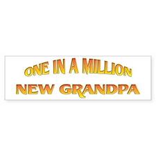 One In A Million New Grandpa Bumper Bumper Sticker