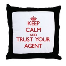 Keep Calm and trust your Agent Throw Pillow