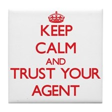 Keep Calm and trust your Agent Tile Coaster