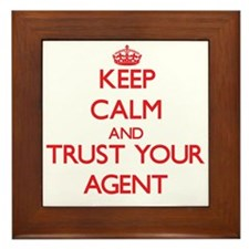 Keep Calm and trust your Agent Framed Tile