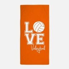 Love Volleyball, Orange3 Beach Towel