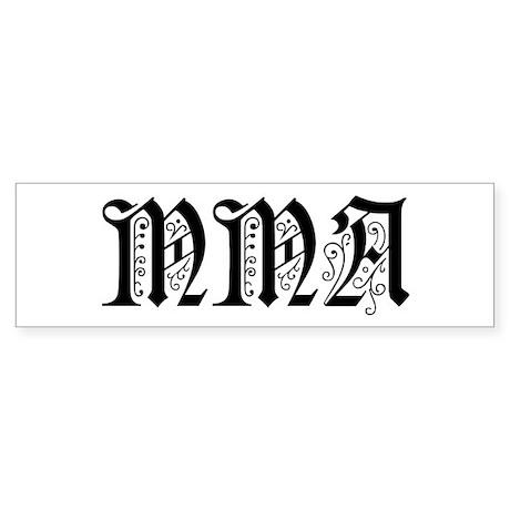 mma bumper bumper sticker by mmatshirts. Black Bedroom Furniture Sets. Home Design Ideas