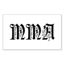 MMA Rectangle Decal