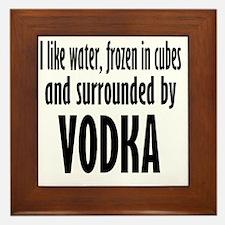 vodka humor Framed Tile