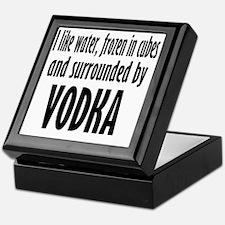 vodka humor Keepsake Box