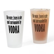 vodka humor Drinking Glass